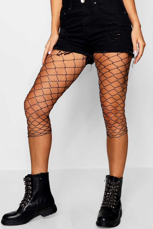 negro ciclista cortos de malla grandes Pantalones de EYq6Wqf