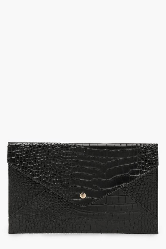 Amy All Over Croc Envelope Clutch