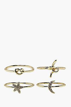 Galactic Knot Rings 4 Pack