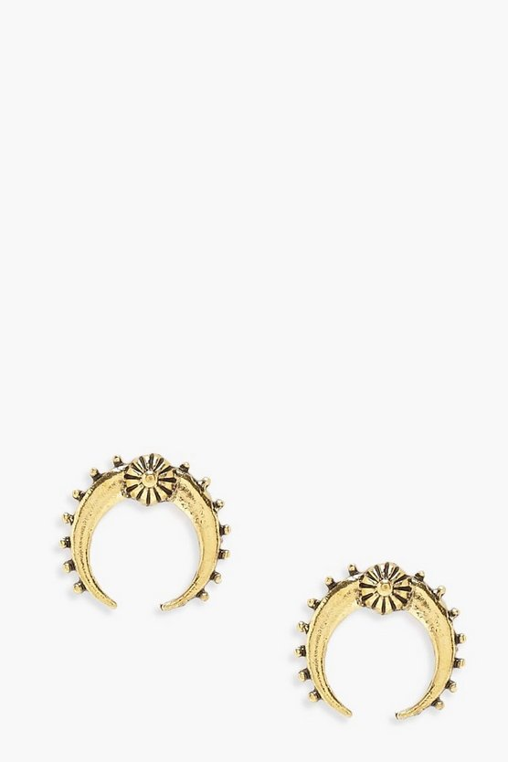 Bella Boho Horn Stud Earrings