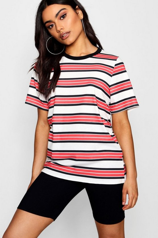 Womens Red Stripe T-Shirt
