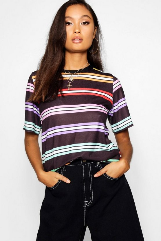 Layla Rainbow Stripe T-Shirt