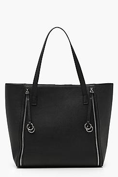 Rings And Zips Tote Day Bag