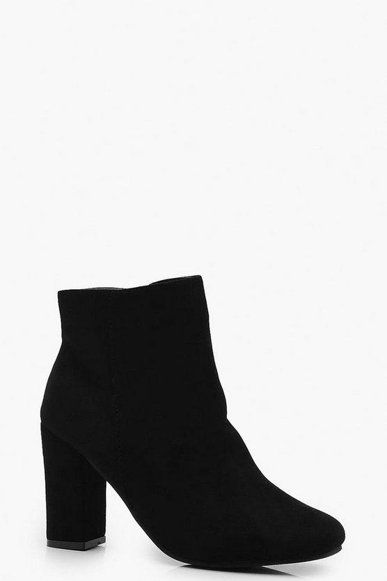 Square Toe Block Heel Shoe Boots