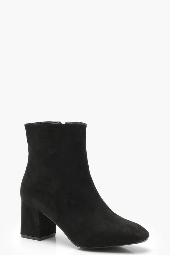 Low Block Heel Ankle Shoe Boots
