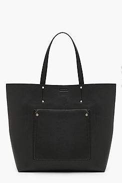 Large Pocket Shopper Tote Bag