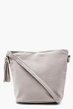 Laura Suedette Bucket Cross Body Bag