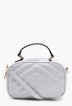 Emma Quilted Handle Cross Body, Pale blue, ЖЕНСКОЕ