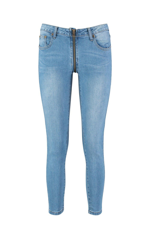 skinny azul en denim Mía con medio cierre Jeans qBdw1xq