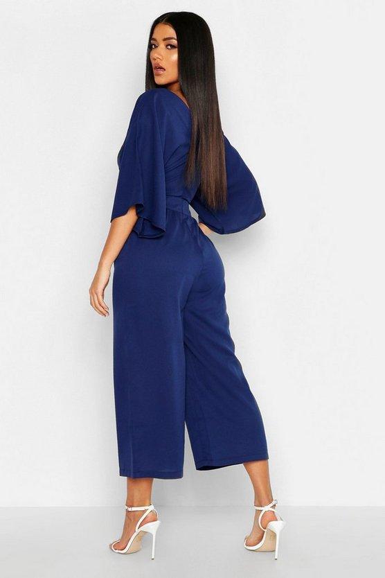Kimono Sleeve Culotte Jumpsuit
