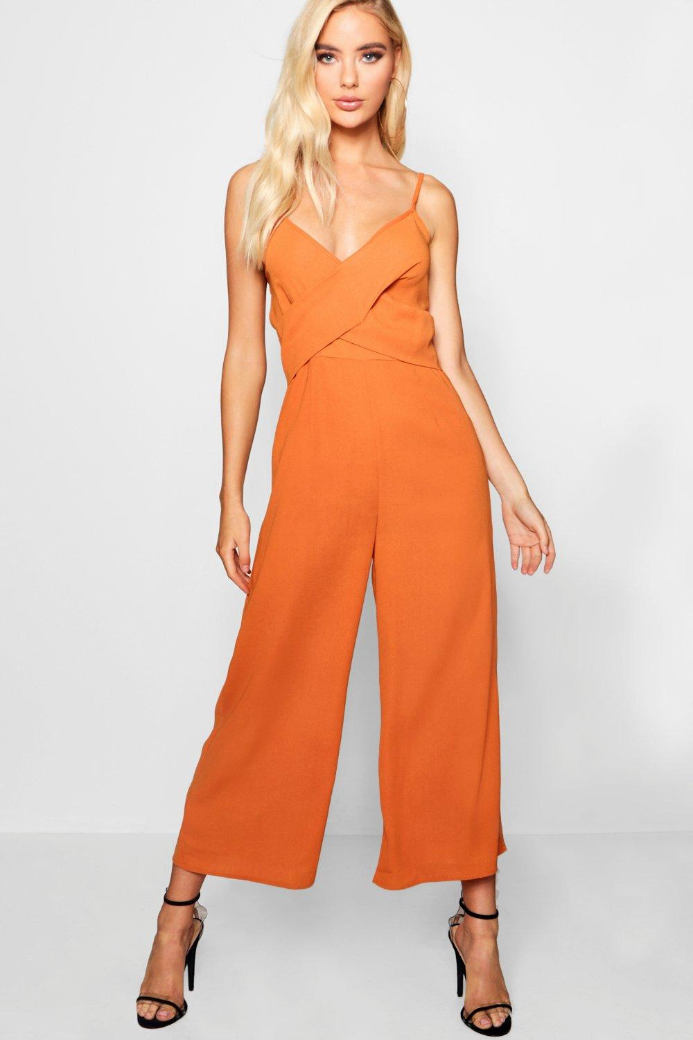 ac22914ce6 Strappy Twist Detail Culotte Jumpsuit. Hover to zoom