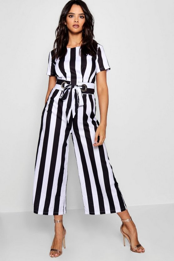 Molly Statement Belt Culotte Jumpsuit