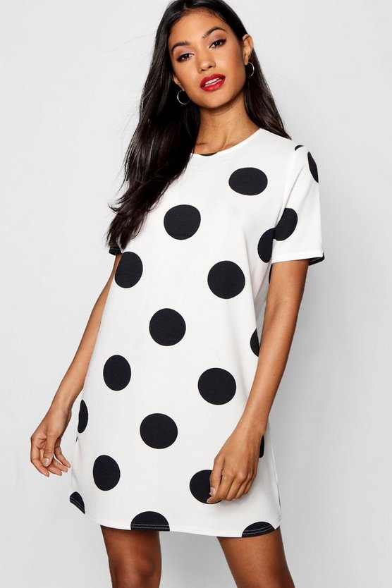Large Polka Dot Shift Dress