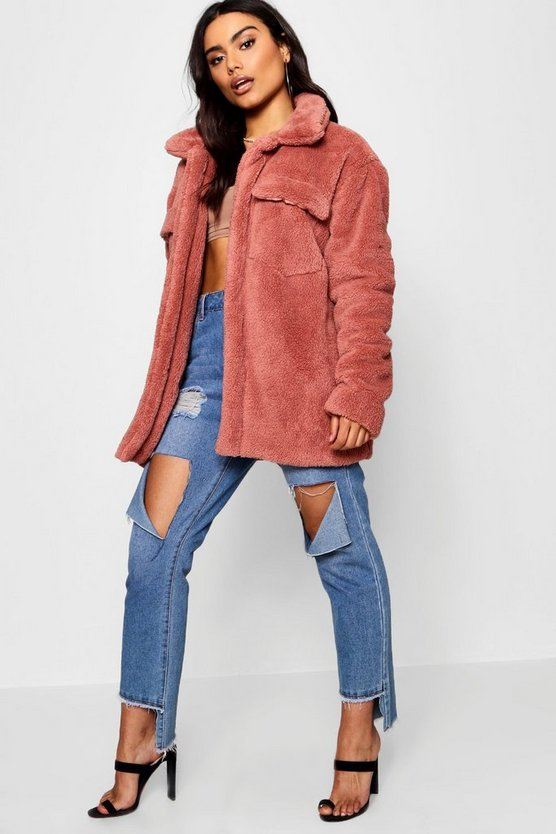 Teddy Faux Fur Shacket