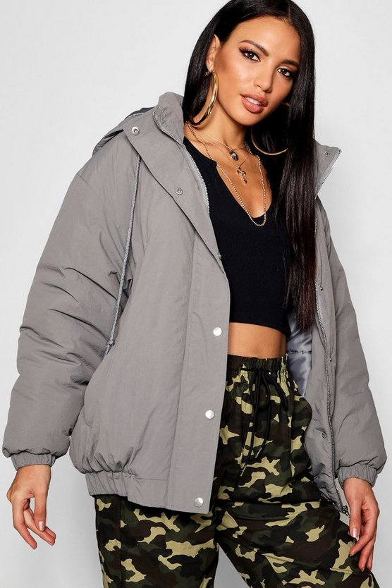 Hooded Oversized Puffer