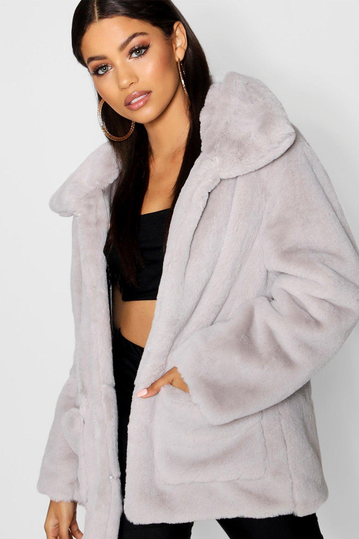 11a34393e03a Super Soft Faux Fur Coat. Hover to zoom