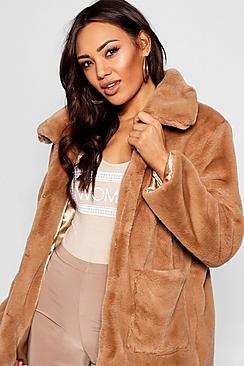 Women's 70s Shirts, Blouses, Hippie Tops Super Soft Faux Fur Coat $90.00 AT vintagedancer.com