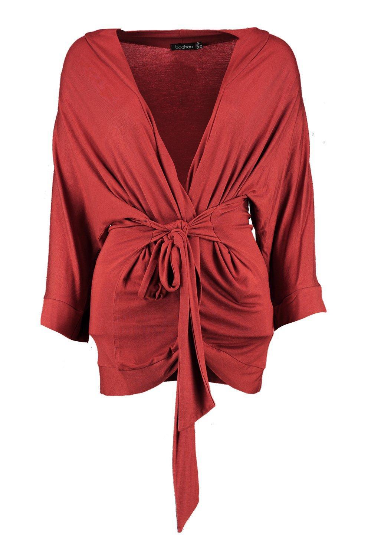 de Kimono Paige con jersey teja envuelto cinturón r1ptZq1