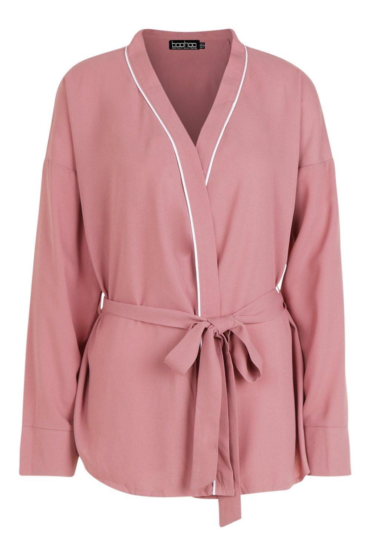 Blusa cruzado Brodie nudo rosa tejida pálido con 8RxUqr8