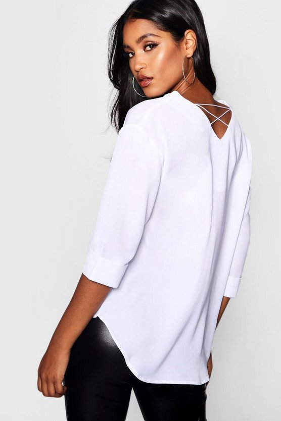 Amelia Strappy Back V Front Woven Top