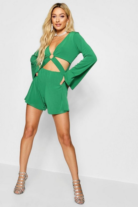 Cut Front Ring Detail Playsuit