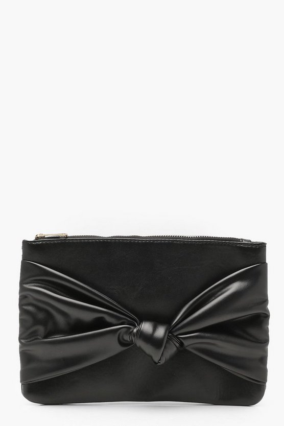 Georgie Large Bow Ziptop Clutch