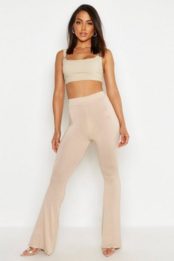 Womens Stone High Waist Basic Skinny Flares