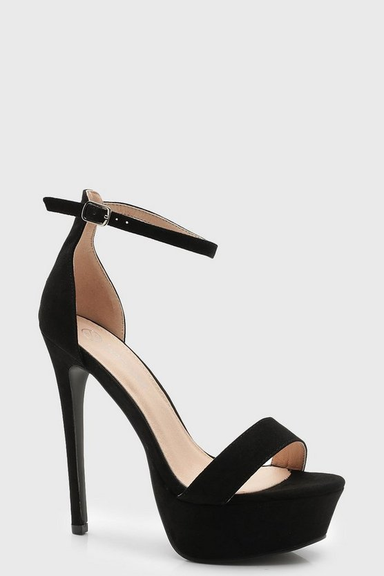 Two Part Sky Scraper Platform Heels