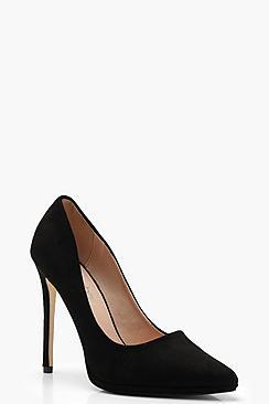 Platform Pointed Leopard Court Shoes
