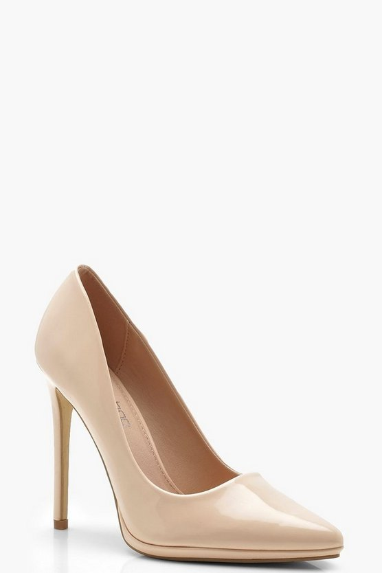 Platform Pointed Court Shoes