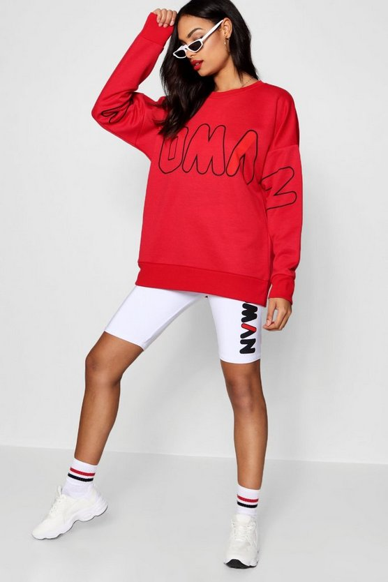 Woman Slogan Sweat