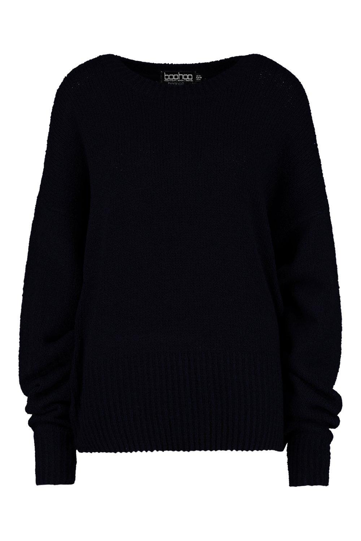 manga negro con Jersey de globo holgado pwaHOnqU5x