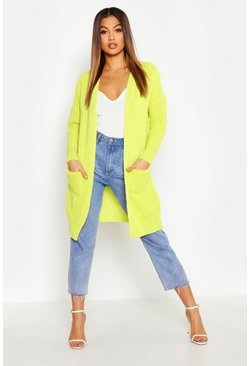 Womens Lime Oversized Boyfriend Cardigan