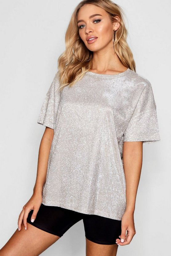 Metallic Oversized T-Shirt