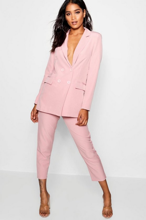 Womens Baby pink Straight Leg Pocket Detail Pants
