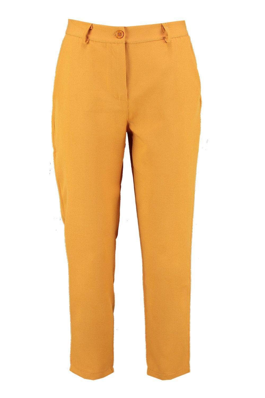recta de Pantalones con rust bolsillo en detalle pierna HEwqA