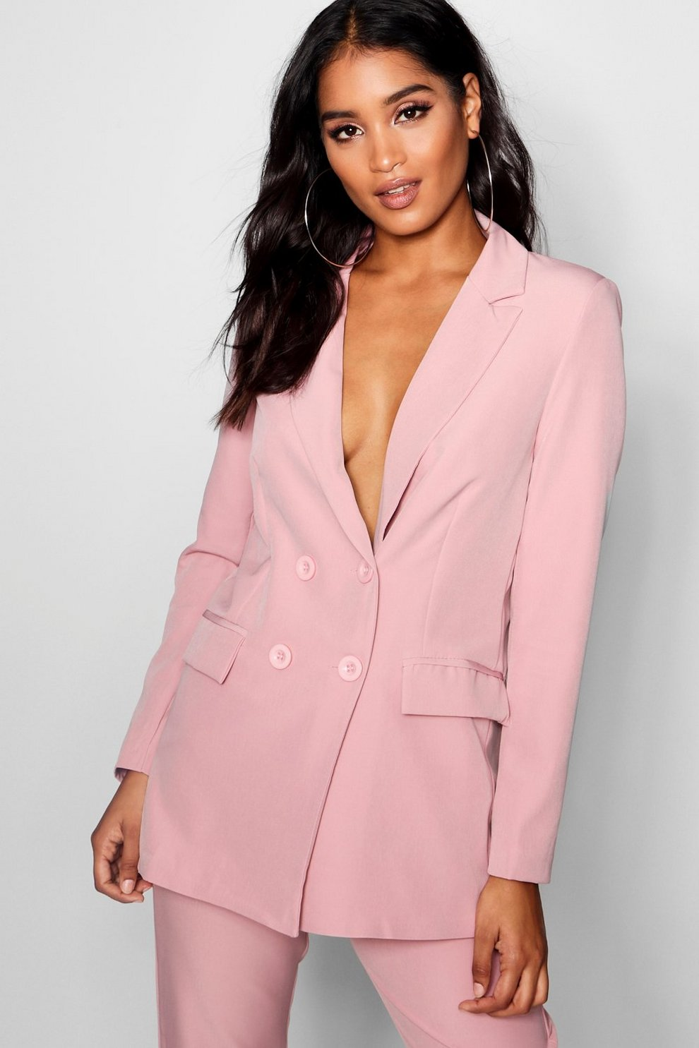 0a46505a007a Longline Double Breasted Jacket | Boohoo