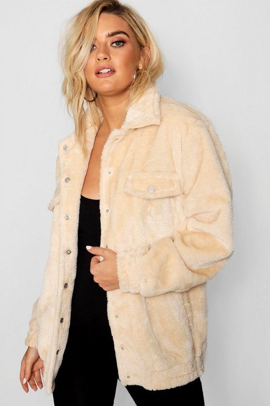 Faux Fur Trucker Jacket