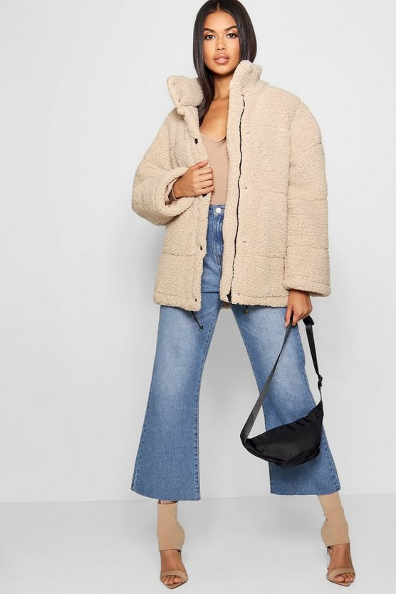 Oversized Fleece Puffer Jacket