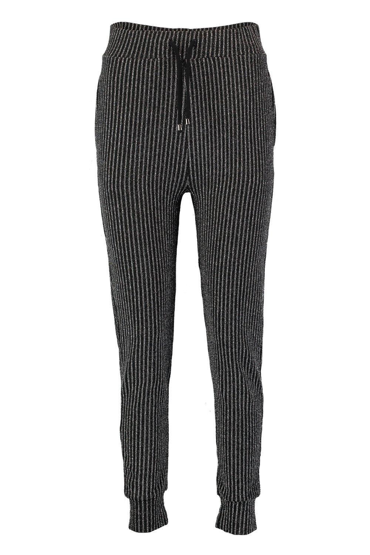 a skinny rayas Pantalones negro metálicas wU1xXq
