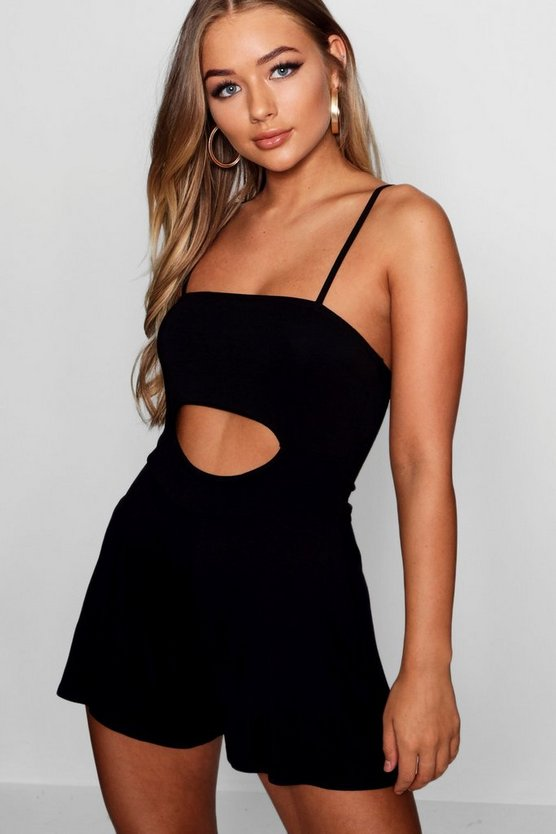 Wanda Cut Out Under Boob Playsuit