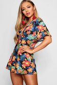 2806b22f4a ... Hawaiian Tropical Tie Front Playsuit alternative image