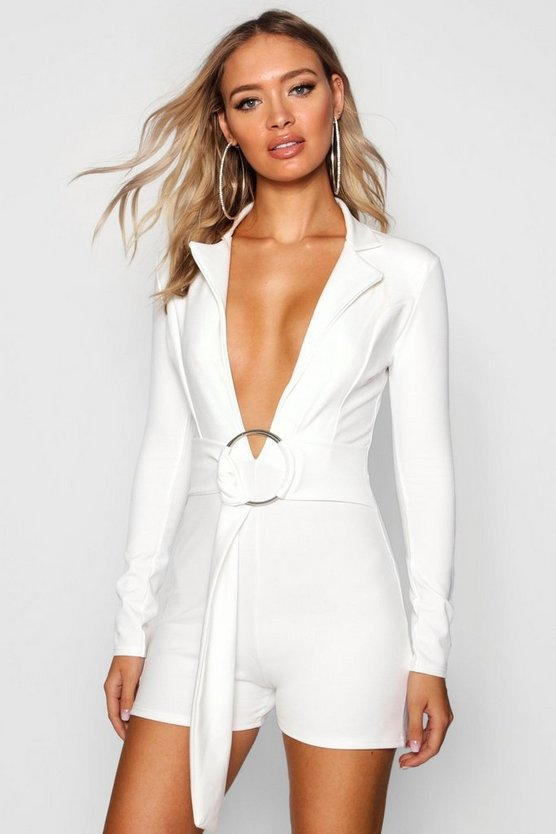 O Ring Blazer Playsuit