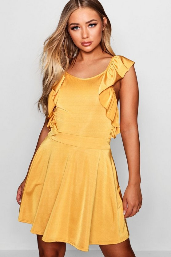Knot Back Slinky Tea Dress