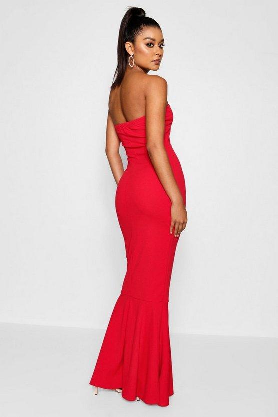 Bandeau Fishtail Maxi Dress