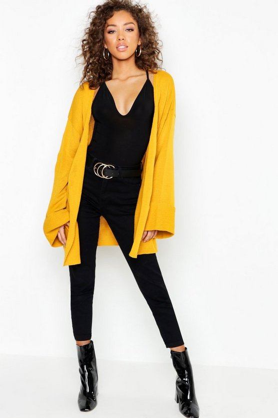 Turn Up Cuff Slouchy Cardigan