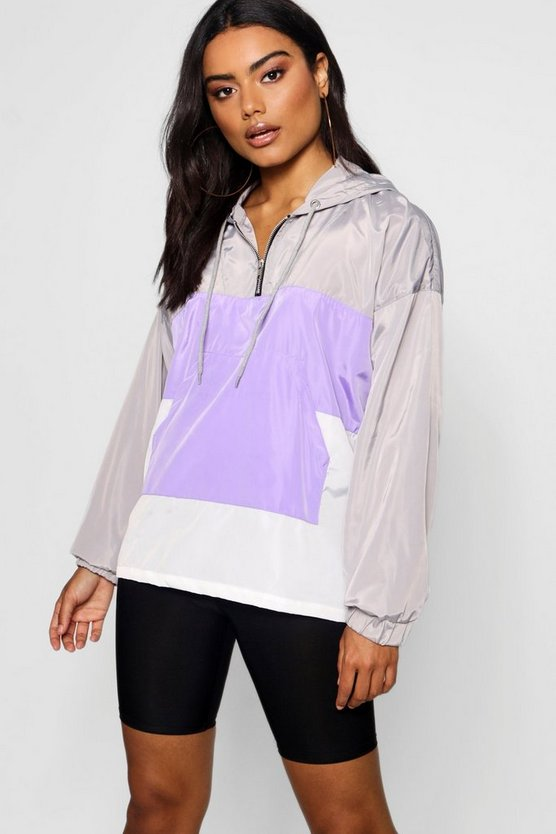 Overhead Panelled Windbreaker