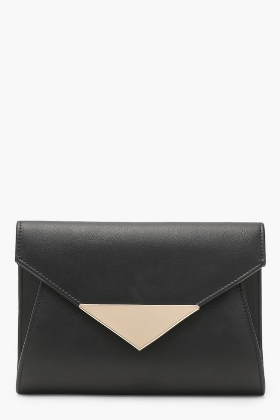 Metal Hardware Envelope Clutch