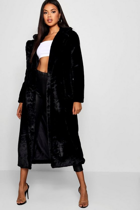 Maxi Faux Fur Coat