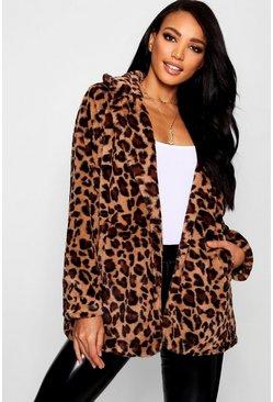 18b4e638faa Leopard Faux Fur Coat